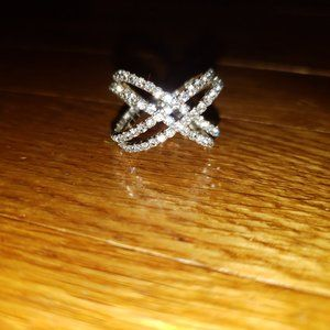 Costume Silver Sparkly Ring
